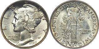 Mercury Dime Value History Charts Landofcoins Com