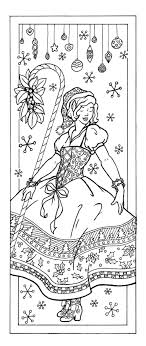 Christmas Elf Coloring Page Bookmark Fits