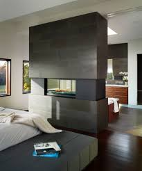 Linear Gas Fireplace Bedroom Contemporary with Architecture Basalt Tile  Bluestone