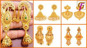 latest gold earrings designs stylish earring for girls gol titanium rings men black hills yellow jackets
