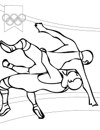 Small Picture Wrestling Coloring Page Handipoints