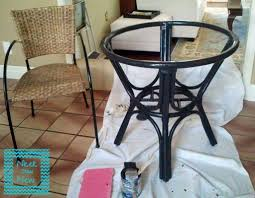 painting rattan furniturePaint Rattan table  update stain chair Nicer Than New