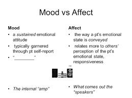 4 Mood vs Affect ...