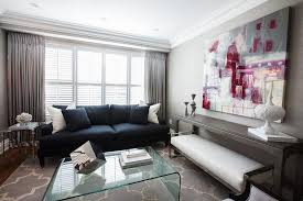 navy blue furniture living room. Navy Blue Sofa In Contemporary Living Room By Jennifer Backstein Interiors Furniture I