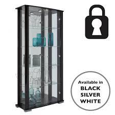 glass door 4 shelf display cabinet