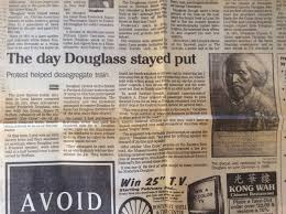 ordinary philosophy newspaper clipping from the lynn museum and historical society about frederick douglass train car sit