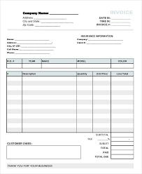 auto body repair invoice 9 auto repair invoice templates free word pdf excel