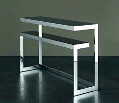 metal console table legs wooden with shelves wood frame