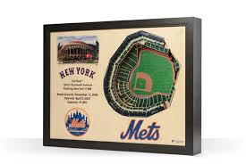 New York Mets 25 Layer Stadiumview 3d Wall Art Citi Field