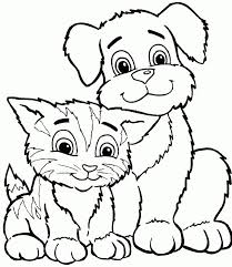 Small Picture cat color pages printable coloring page for kids kitten coloring