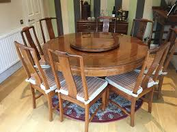 chinese rosewood round dining table and eight chairs