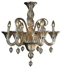 murano venetian style 6 light blown glass in amber finish chandelier 23