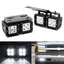 2008 Chevrolet Silverado Fog Light Bulbs Dual Led Pod Fog Lamp Kit For 2002 06 Chevy Avalanche 03 07 Silverado 2500 3500 4 20w Cree Led Cubes Foglight Location Mounting Brackets Wiring