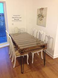 build dining room table. Dining Room Table Made Of Salvage Pallet, Diy, How To, Painted Furniture, Build
