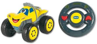 Машинка Билли большие колеса с д.у, желтая <b>Chicco</b>