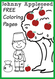 Johnny Appleseed Coloring Pages Apple Themed Activities Printable