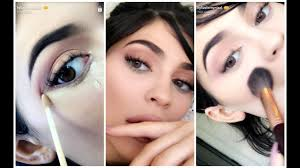 kylie jenner makeup tutorial using her vacation edition snapchat jun 13