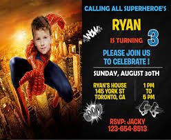 Spiderman Birthday Invitation Templates Free 21 Superhero Birthday Invitations Psd Vector Eps Ai