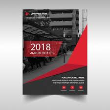 Red Creative Annual Report Cover Template Vector Free Download