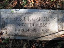 Hersie Priscilla Gardner (Turner) (1839 - 1937) - Genealogy