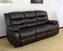 leather sofa black recliner 3 seater