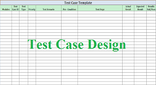 Software Test Case Template Software Test Design Work For Quality