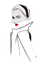 Digital Download Watercolour Fashion Illustration Titled 40s