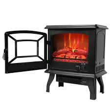 ktaxon 17 small electric fireplace indoor free standing heater fire flame stove adjustable csa listed com
