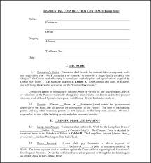 Sample Construction Contract Sample Of Agc Construction Contract Template 243 Ocweb