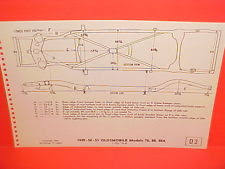 1949 1950 1951 oldsmobile 76 88 88a 119 1 2 wb frame 2000 Oldsmobile Intrigue Engine Diagram 1949 1950 1951 oldsmobile series 76 88 convertible 88a frame dimension chart