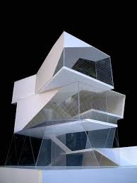 architectural model making materials uk. about 50 balance between solid and transparent on a polygonal shaped building. concept model only. architectural making materials uk
