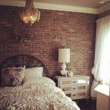 red brick wallpaper bedroom