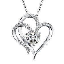 heart necklace 14k gold plated