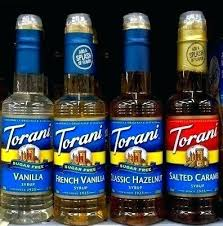 torani hazelnut syrup flavored syrups sugar free vanilla french or caramel gluten clic calories recipes