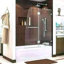 inspiring glass bath shower doors walk in tub with enclosure bed trackless enclosures door home depot