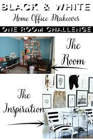 home office planning. One Room Challenge Black And White Home Office Makeover Week 1 Planning