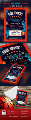 basketball baby shower 4x6 invitation invitations cards invites