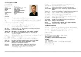 English Resume Format Beautiful Curriculum Vitae Example English