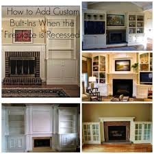 adding custom cabinetry with an existing fireplace surround
