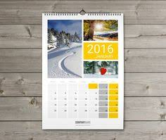 Small Picture Wall Calendar 2016 design Template KW13 W14 new year Pinterest