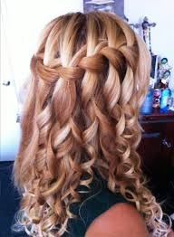 Hairstyle Waterfall and braided hairstyles pictures of curly waterfall braid hairstyle 2480 by stevesalt.us