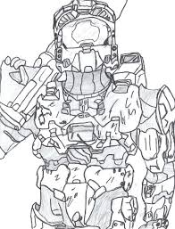 halo reach my noble 6 by printable coloring pictures 4 new master chief page