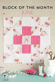 June Block of the Month; a Grandma's Favorite Quilt Block Tutorial ... & The June Quilt Block of the month; a free quilt tutorial and pattern for a Adamdwight.com