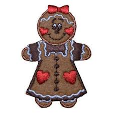 gingerbread woman. Brilliant Woman Image Is Loading GingerbreadWomanChristmasAppliquePatchIronon And Gingerbread Woman E