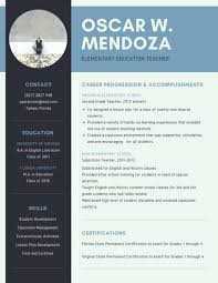 Blue Simple Teacher Resume