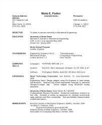 Resume Templates Pdf Mechanical Engineering Resume Templates Best Of Interesting Mechanical Fresher Resume Format