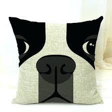 free terrier decorative throw pillows case for sofa car bed cute dog cushion cover home in us about this boston terrier bedding baby