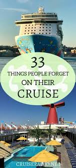 33 things people forget on their cruise