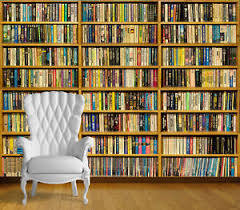 Image is loading Library-Books-Book-Case-Wall-Art-Wall-Mural-
