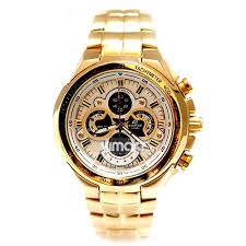 casio watches gold color best watchess 2017 imported casio edifice 554 full gold white dial watch for